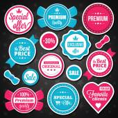 Premium quality stickers, badges and labels set — Stok Vektör