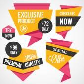 Premium quality creative badges set — ストックベクタ