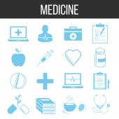 Medicine and healthcare icons set — Stock Vector