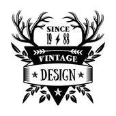 Vintage badge 1 — Stock Vector