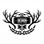 Vintage emblem 6 — Stock Vector
