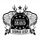 Vintage badge 13 — Stock Vector