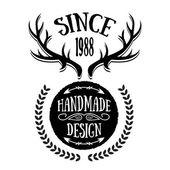 Vintage badge 14 — Stock Vector