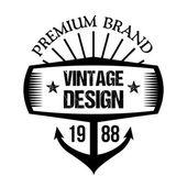 Vintage badge 9 — Stock Vector