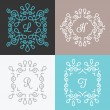 Set of trendy monogram design templates. Set 1 — Stock Vector #70192305