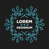 Premium quality floral frame or monogram design template 1 — Stock Vector