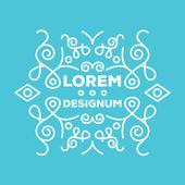 Premium quality elegant frame or monogram design template 3 — Stock Vector