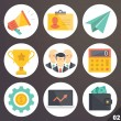 Colorful vector icons for web and mobile applications. Set 2 — Vector de stock  #71428103