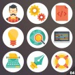 Colorful vector icons for web and mobile applications. Set 4 — Stock Vector #71428253