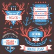 Creatieve vintage badges, labels en linten 10 in te stellen — Stockvector  #71428357