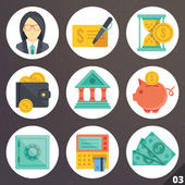 Colorful vector icons for web and mobile applications. Set 3 — Stock Vector