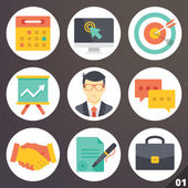 Colorful vector icons for web and mobile applications. Set 1 — Stock Vector