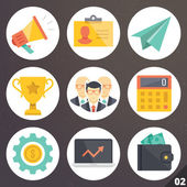 Colorful vector icons for web and mobile applications. Set 2 — Stock Vector