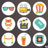 Colorful vector icons for web and mobile applications. Set 12 — Stock Vector
