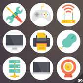 Colorful vector icons for web and mobile applications. Set 9 — Stock Vector