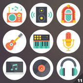 Colorful vector icons for web and mobile applications. Set 11 — Stock Vector