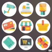 Colorful vector icons for web and mobile applications. Set 6 — Stock Vector