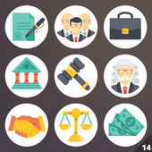 Colorful vector icons for web and mobile applications. Set 14 — Stock Vector