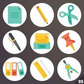 Colorful vector icons for web and mobile applications. Set 5 — Stock Vector