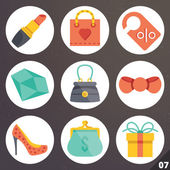 Colorful vector icons for web and mobile applications. Set 7 — Stock Vector