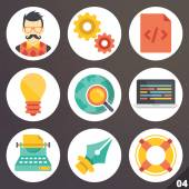 Colorful vector icons for web and mobile applications. Set 4 — Stock Vector
