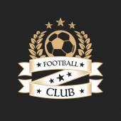 Stylish football club emblem. — Stock Vector