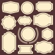 Set of vintage frames, badges, emblems, labels and insignias — Stock Vector #71905041