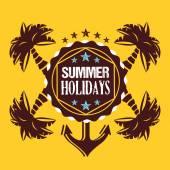 Creative summer holidays illustration — Stock Vector