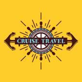 Cruise travel vintage badge logo concept — Stock Vector