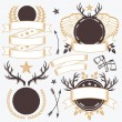 Vintage badges and labels templates set — Stock Vector #73492499