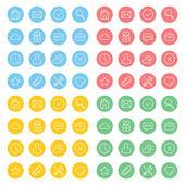 Clean minimalistic icons set — Stock vektor