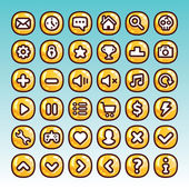 Great collection of cartoon game icons — Stock Vector