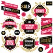 Premium quality stickers, badges, labels and ribbons. Set 2 — Stock Vector #74780035