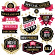 Premium quality stickers, badges, labels and ribbons. Set 4 — Stock Vector #74780047