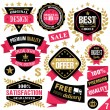 Premium quality stickers, badges, labels and ribbons. Set 7 — Stock Vector #74780165