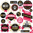Premium quality stickers, badges, labels and ribbons. Set 8 — Stock Vector #74780169