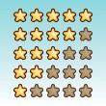 Rating stars set — Stock Vector #74780221