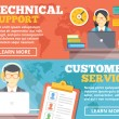Technical support, customer service flat illustration concepts set — Stock Vector #74780225