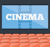 Cinema concept — Stock Vector