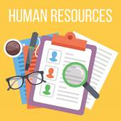 Human resources. Search for candidate process — Stock Vector