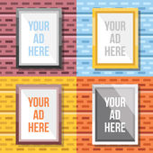 Colorful vector photo frames or advertising banners — Stock Vector