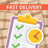 Fast delivery flat illustration — Stock Vector