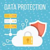 Data protection flat illustration — Stock Vector