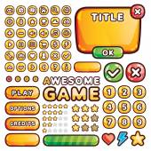 Interface elements for web and mobile games and apps — 图库矢量图片