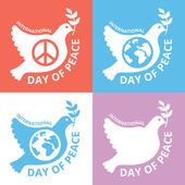 Peace day logo set. Concepts for international day of peace — Stock Vector