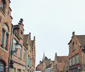 Wonderful and fairy Brugge in Belgium — Stock Photo
