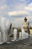 Fountains in Moscow Exhibition Center — Stock Photo