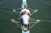 Two rowers — Stock Photo