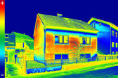 Thermovision image on House — Stock Photo