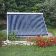 Vacuum solar water heating — Stockfoto